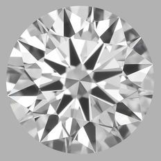 0.56 Carat Round Brilliant Diamond, E IF, 3EX Cert: IGI #462