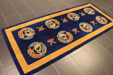 a beautiful Art Deco China Oriental carpet, made in China around 1930, in very good condition, 104 x 238 cm