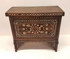 Wooden cabinet/chest with inlaid mother of pearl, second half of 20th century,