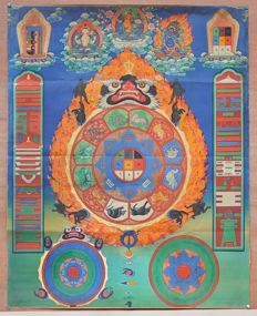 Thangka - Tibet - Second half of 20th century.