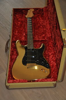 FENDER STRATOCASTER custom shop, Jason Davis, 1999, 24 ct gold plated