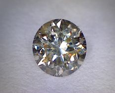 Diamond – 0.53 ct – Round cut – Colour: Light Brown – Clarity: SI2