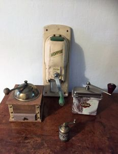 Lot of Rare Antique Coffee Grinders