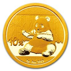 China - 10 Yuan 2017 Panda - 999 Gold / Goldmünze