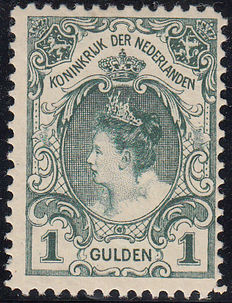 "The Netherlands 1906 - Queen Wilhelmina ""Fur collar"" - NVPH 77C, with inspection certificate."