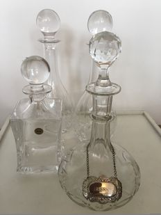 Wedgwood - 4 large crystal carafes