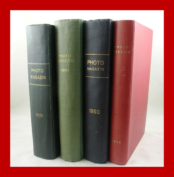 Nice lot of 4 pieces of bound magazines of PHOTO magazine from 1949/1950/1951/1952