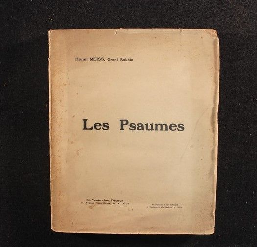 Honel Meiss, Grand Rabbin - Les Psaumes - 1919