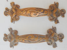one pair of handles bronze - French - 19th century
