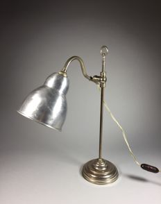 Chromed brass desk lamp, first half of 20th century, France