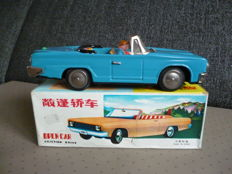 "STF, China - Length 23 cm - Tin ""Open Car"" MF191 with friction motor, 1970s"