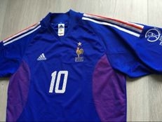 France Home Shirt - World Cup 2002 - Legend Zidane 10.