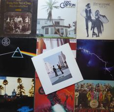 10 of the most populair albums of all times; Pink Floyd (2), Crosby, Stills, Nash & Young, Eric Clapton, Fleetwood Mac, The Beatles,  Dire Straits, Bruce Springsteen,  Meat Loaf and The Eagles