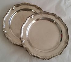 Pair of silver fruit platters - London, George III - 1782