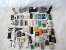 60 old lighters. Gas and petrol 19th century.