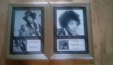 2 Jimi Hendrix framed pictures both signed ( printed)