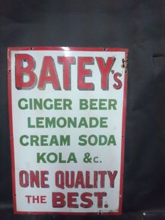 "Irish pub sign ""Batey's"" painted by hand- 1940"