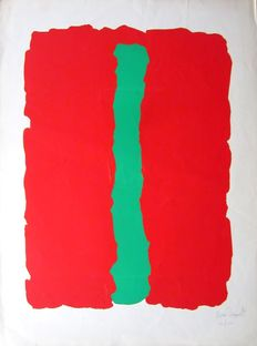 Bram Bogart - composition red/green - 1978