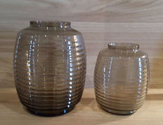 A.D. Copier - 2 so-called ribbed vases in Fumi.