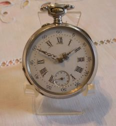 Men's pocket watch from the 1900 era, patented SGDG. SILVER CASE.