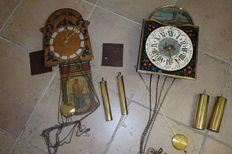 2 steampunk clocks - period 2nd half of the 20th century
