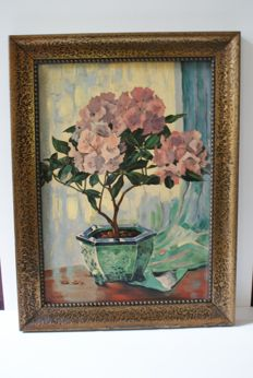 Oil Painting Hydrangea - B.D. of Delft