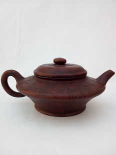 Hand-made teapot (purple clay) - China, 21st century