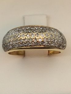 Ring in 750 gold and diamonds, size 55.
