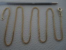 585 yellow gold necklace, tank necklace, 42 cm long