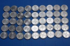 Portugal – 5 collections of 10 Centavo coins from 1971 to 1979 (45 coins)