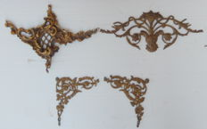 lot 4  antique bronze  Filigree Ornate - Embellishment 1800s