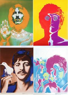 4 original posters - THE BEATLES - 1967