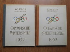 2 x Photos album of the15th Winter Olympics in 1952 in Oslo and Summer Olympics in Helsinki - Complete