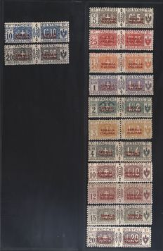 Italian Somalia -- Parcel post -- Sassone  no.  21–29 and 30–42