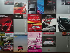 1986 - 2010 -  MITSUBISHI FTO, Lancer Evolution VI, Evolution VII, Evolution VIII, Galant VR-4, Colt Ralliart, etc - Mixed lot of 16 original sales brochures & magazine
