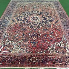 NO RESERVE PRICE!  From €1!!  Old hand-knotted Persian carpet - Heriz, 364 x 252 cm, around 1960