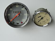 1969 ? - VDO Speedometer & other unknown VDO gauge - mixed lot of 2 meters