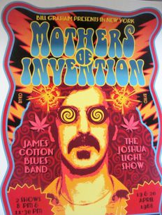 Frank Zappa / Mothers Poster New York Fillmore East  1968 Artist Edition