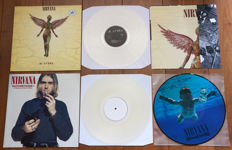 Nirvana- lot of 3 limited edition lp's: In Utero (on clear wax w. lyric insert & poster), Outcesticide I - In Memory Of Kurt Cobain (on clear wax, 200 copies only!) & Nevermind picture disc lp