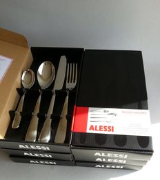 Ettore Sottsass for Alessi - Nuovo Milano - silverware for 6 people