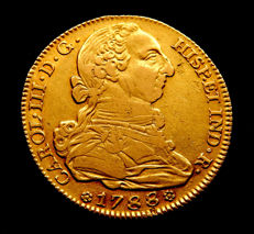 Spain - Carlos III - 4 Escudos doubloon 1788 Madrid M - Gold.