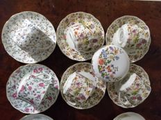 Beautiful collection of English fine China collection Cup and saucers also bonbon dish