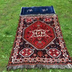 Hand-knotted Shiraz carpet with a free small Chinese carpet