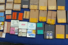Large quantity of alarm clock and watch springs and other parts