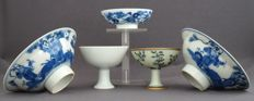 Collection of Five Stemmed Cups – China – 20th Century