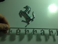 Ferrari name badge - Ferrari badge logo - Length 20 cm and height 2.7 cm + Ferrari prancing horse