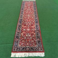 NO RESERVE PRICE!  From €1!!  Hand-knotted oriental runner - Indo Kashan, 345 x 77 cm, circa 1990