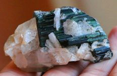 Cats Eye effect Tourmaline specimen - 5 x 3 x 2.2cm - 350ct