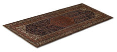 1764 Very old authentic rug from 1890–1920, exceptional rare original Malayer Kurd Baft, Persian, Iran, with certificate of authenticity (Size 500 x 200 cm) (Galleria Farah 1970)
