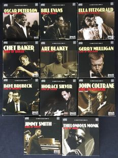Collection of 11 boxes ( 110 CDs) of House of Jazz CDs